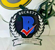 ROBERT TONYAN / AUTOGRAPHED GREEN BAY PACKERS LUNAR ECLIPE MINI HELMET / BECKETT image 7