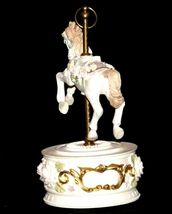 Horse Carousel Music Box (1980's) Works AA18-1631 Vintage image 6