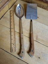 Vintage Cold Temp HomeEc Stainless USA No 60 Slotted Serving Spoon & Spa... - $29.69