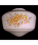 51954a schoolhouse light shade white glass roses ceiling fan globe floral thumbtall