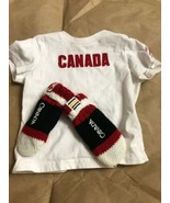 Hudson Bay Canada Olympic Baby Shirt And Mittens  Lot 12-18 Months Box3 - $9.85