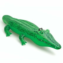 """Inflatable Crocodile Pool Ride-on Floating Water Swim Toys for Kids 66"""" ... - $28.66"""
