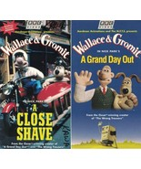 Wallace & Gromit  A Close Shave & A Grand Day Out VHS 2 Tape Lot Nick Pa... - $6.85