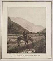 1920 Magazine Photo Forest Ranger on Horse Cache National Forest Utah - $12.85