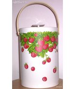 EAMES ERA MID CENTURY MODERN-GEORGES BRIARD STRAWBERRY ICE BUCKET - $29.95