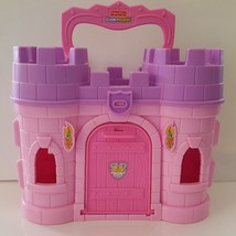 Fisher Price Little People Play N Go CARRY CASTLE Travel Vacation Playti... - $15.95