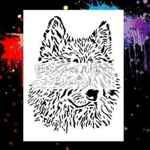 "NEW! 15""x12' Stencil Wolf 02 Airbrush Stencil,Template - $14.01"