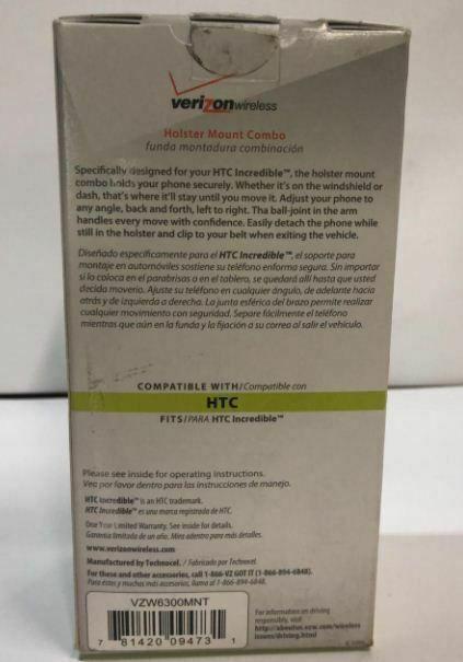 Verizon HTC Droid Incredible 2-in-1 Windshield/dashboard Car Mount