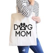 Dog Mom Natural Cute Canvas Shoulder Bag Cute Design For Dog Owners - $15.99