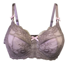 Ladies Non Padded Wire Free Floral Lace Pink Beige Mastectomy Post Surgery Bra - $13.37