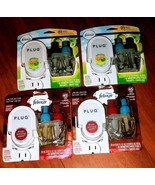 4 Febreze Warmers and 4 Scented Oil Refills Gain And Fresh Pressed Apple... - $17.81
