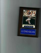 Alfonso Soriano Plaque Baseball New York Yankees Ny Mlb C - $0.98