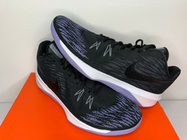 NIB SIZE 11 MEN Nike Zoom Evidence ll Black White Purple Basketball SHOE... - $39.59