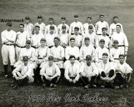 MLB 1916 New York Yankee Team Picture Black & White 8 X 10 Photo Picture - $6.99