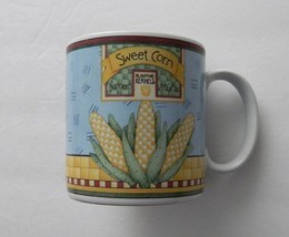"Debbie Mumm Coffee Cup / Mug ""Blue Ribbon"" by Sakura Casual Dining Oneid... - $8.90"