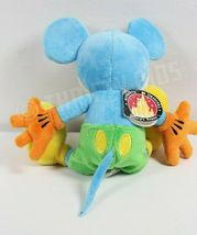 """Disney Parks 10"""" Blue Yellow Mickey Mouse Stuffed Plush Toy With Original Tags image 4"""