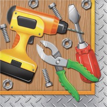 Handyman 16 Ct Luncheon Napkins Carpenter Tools Birthday Party - $3.79