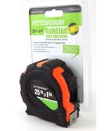 "NEW Pittsburgh 25 ft. x 1"" QuikFind Retractable Tape Measure - $8.65"