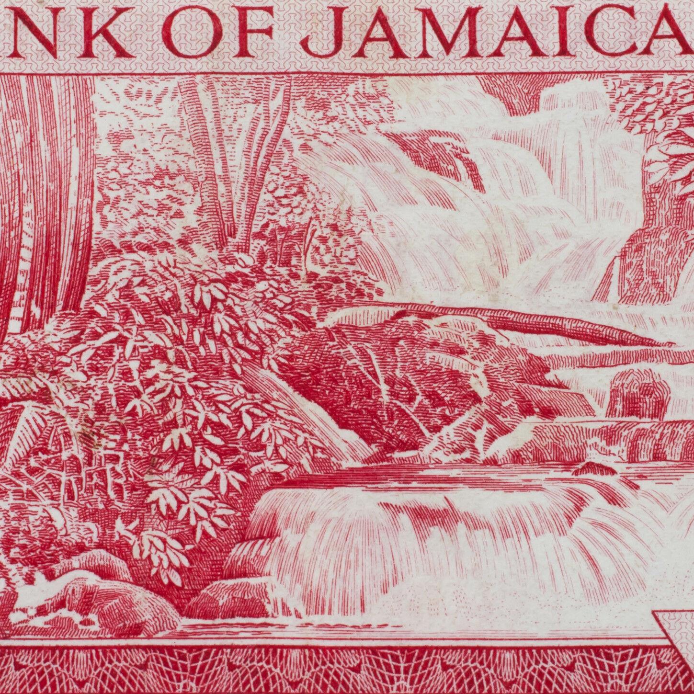 1960 Banco de Jamaica 5 Chelines Billete XF+ Estado Pick # 49