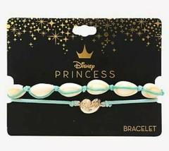 Disney Princess Ariel The Little Mermaid And Ursula Shell Cord Bracelet Set - $16.33