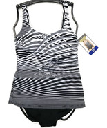 NWT Women's Essential by GOTTEX 2-PIECE B&W Swim Suit - Multiple Sizes - $18.19