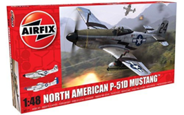 Airfix North American P51-D Mustang Plastic Model Kit 147 Pieces - $31.94