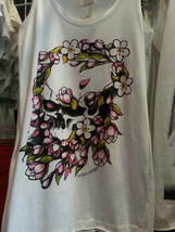 Skull in Flower Tank Top white (medium) - $14.34