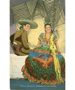 Typical Colorful Costumes of old Mexico, American Laredo, unused Postcard  - $12.99