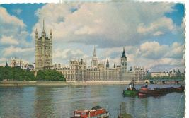 United Kingdom, The Houses of Parliament, London, 1962 used Postcard  - $3.50