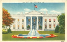 White House, Washington D.C. 1953 used linen Postcard  - $3.99