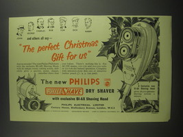 1953 Philips Philishave Dry Shaver Ad - The perfect Christmas gift for us - $14.99