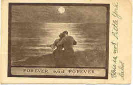 Forever and Forever I will Love You 1909 Vintage Post Card  - $6.00