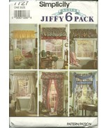Simplicity Sewing Pattern 7727 Home Decor Curtains Drapes Valance Swag N... - $6.98