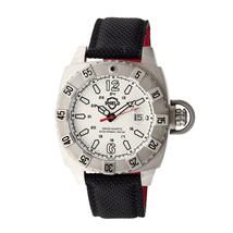 Shield Vujnovich Swiss Diver Leather-Band Watch w/ Date - Silver - $399.00
