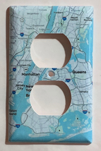 New York city NYC 5 borough Map Light Switch Outlet Cover Plate Home Decor image 2