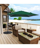 10 ft Square Cantilever Umbrella Offset Hanging Patio Umbrella w/ Cross ... - $199.99