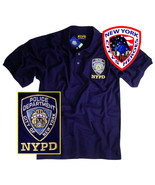 NYPD POLO T-SHIRT NAVY BLUE SHORT SLEEVE WITH TAGS OFFICIALLY LICENSED B... - $24.99