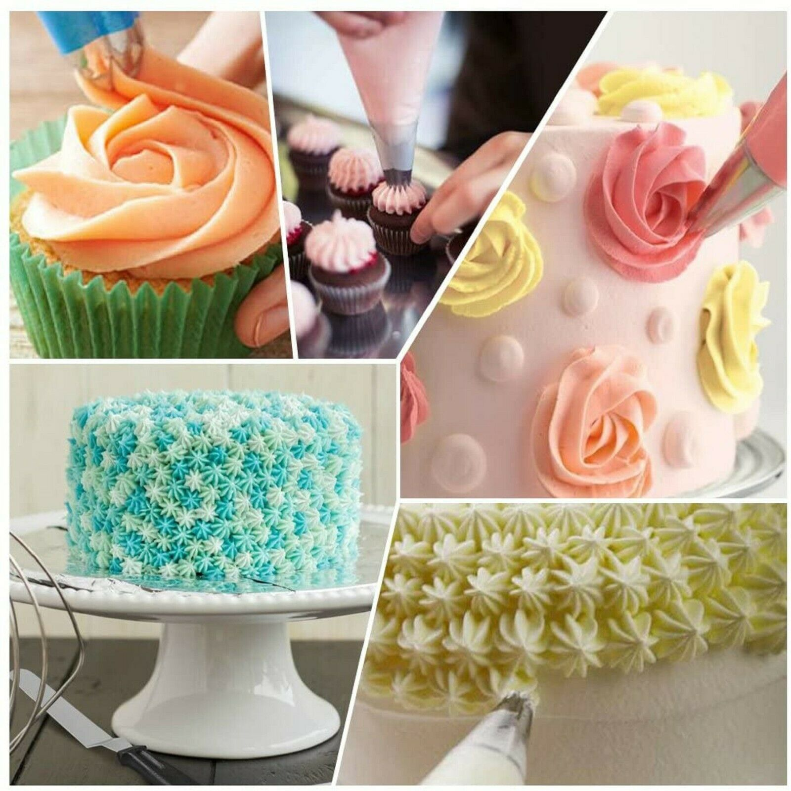 Primary image for 24 pcs cake decorating kit 1silicone icing pen,3 cake molds piping bag icing pen