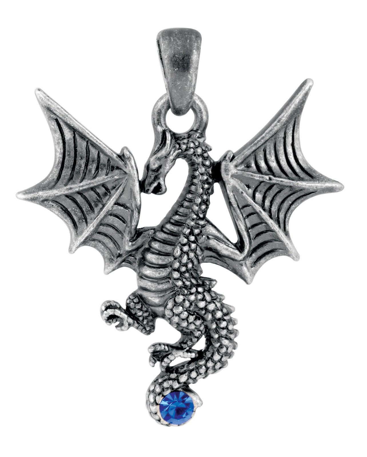 YTC Summit New Blue Tatsu Dragon Pendant Collectible Accessory Serpent Necklace