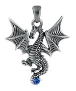 YTC Summit New Blue Tatsu Dragon Pendant Collectible Accessory Serpent N... - $10.88