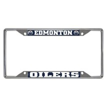 Fanmats NHL Edmonton Oilers Chrome Metal License Plate Frame Delivery 2-4 Days - $14.84