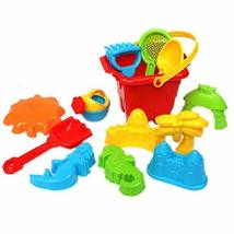 PANDA SUPERSTORE Random Color Children's Seaside Toys 13 Pieces Beach Toys Set K