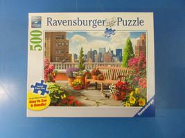 "Ravensburger Puzzle Rooftop Garden No.148684 27"" X 20"" 500 Pieces (Large... - $16.83"