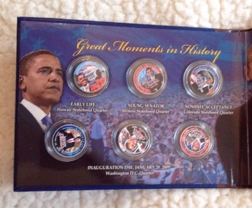 Barack Obama Great Moments In History Inauguration Day 1/20/2009 Coin Collection