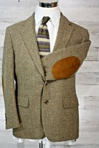 Vintage Blazer Sport Riding Jacket Coat Wool Suede Elbow Pads & Chin Strap  - $32.69
