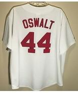 Houston Astros Roy Oswalt #44 MLB NL White Brick Red 2002 - 2012 Jersey XL - $128.69