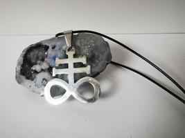 Handmade Stainless Steel Leviathan Cross Pendant Necklaces Medallion Amulet - $14.00