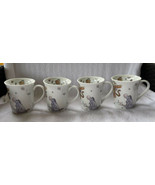 4 Winnie the Pooh Fall Leaves Pumpkins Coffee Cup Set Mugs Eeyore Tigger... - $44.96