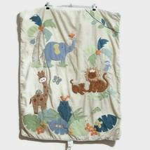 Lambs and Ivy Baby Blanket Wall Hanging Safari Giraffe Lion Elephant  Hippo - $19.30
