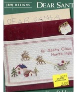 Dear Santa Letter JBW Cross Stitch Mini Pattern Leaflet - $2.67